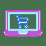 laptop cart blue pink
