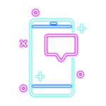 mobile chat text blue pink